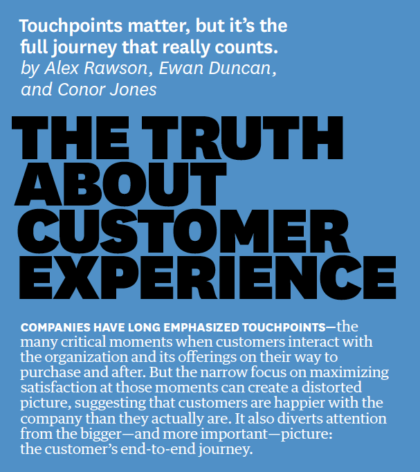 HBR - Truth about customer experience